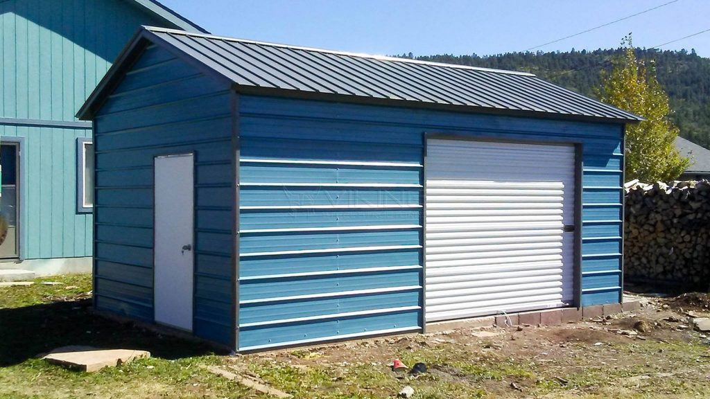 12x21x8 Enclosed Metal Storage