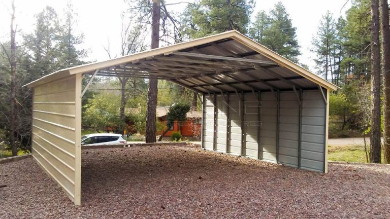 20x21x7 Vertical Roof Metal Carports