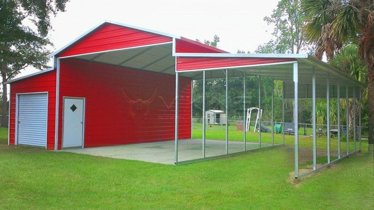 42x26x11 Red Metal Barn