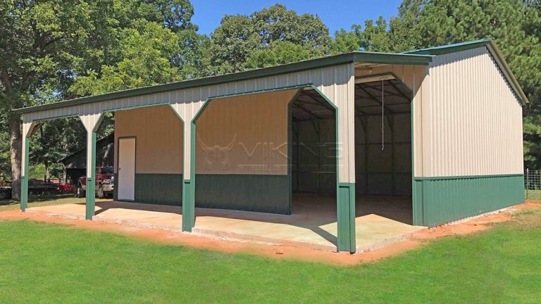 30x31x10 Vertical style roof garage