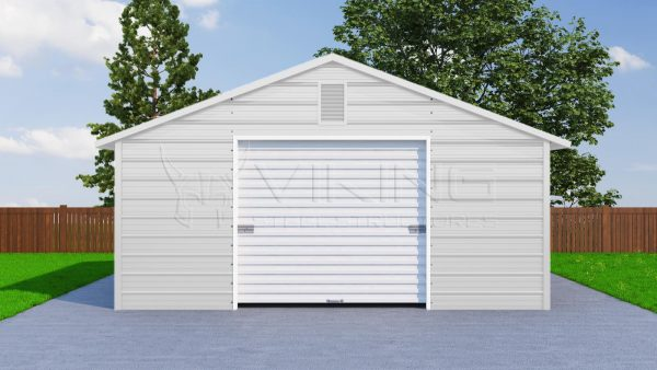 20x21 One Car Metal Garage