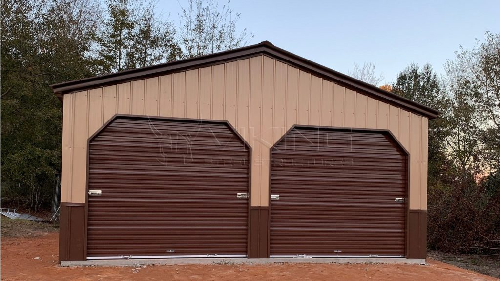 20x25x9 Fully Enclosed Vertical Garage