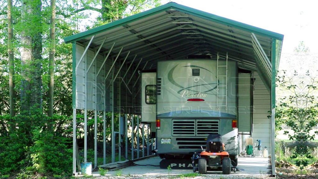 20x50x14 Vertical Roof Metal RV Cover