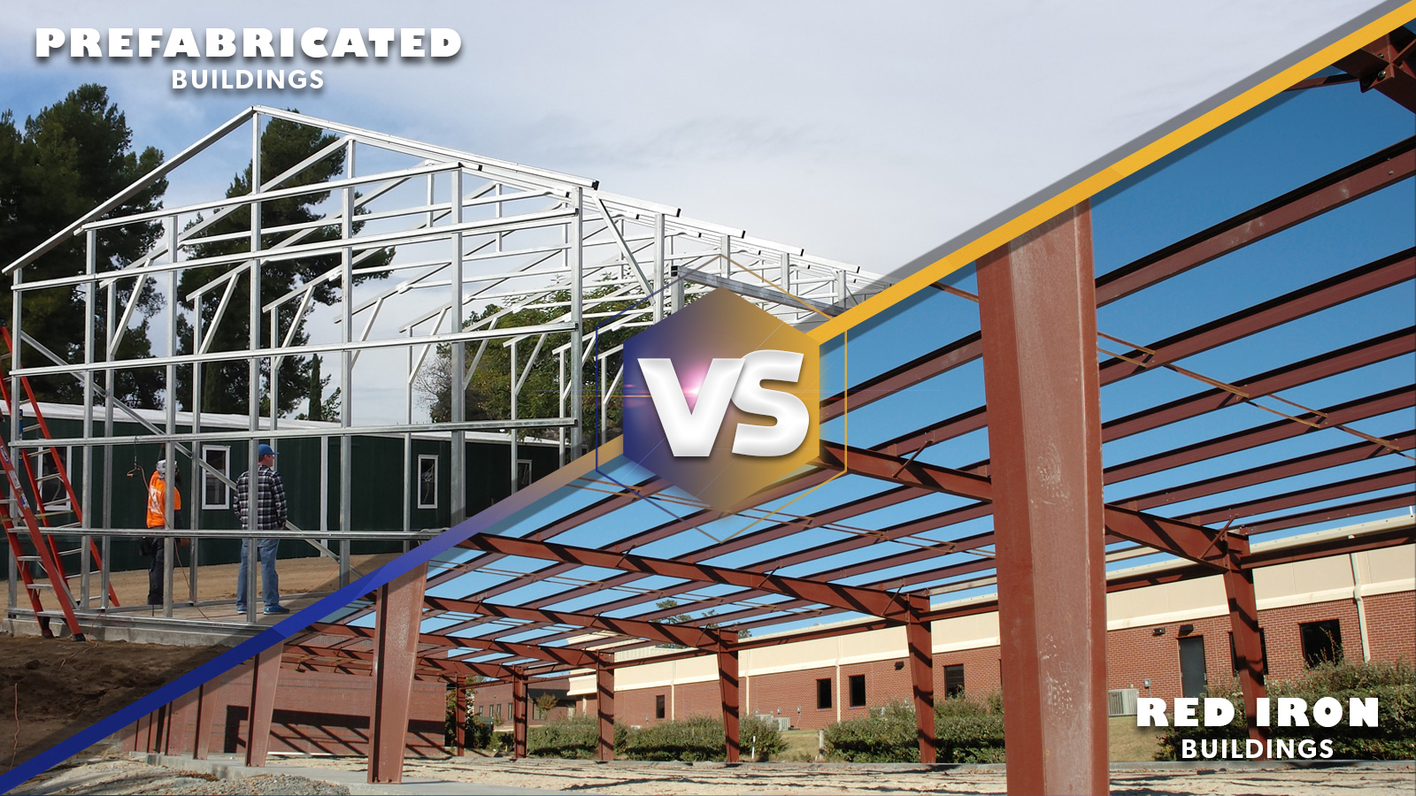Prefabricated Metal Building vs Red Iron Building