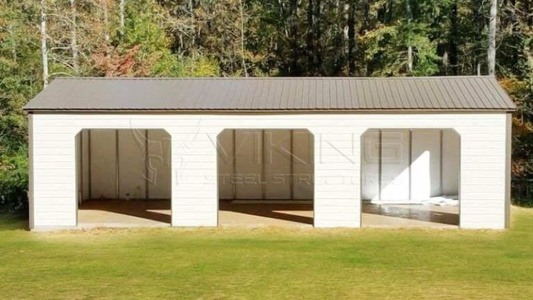 24x35x12 Steel Garage Building
