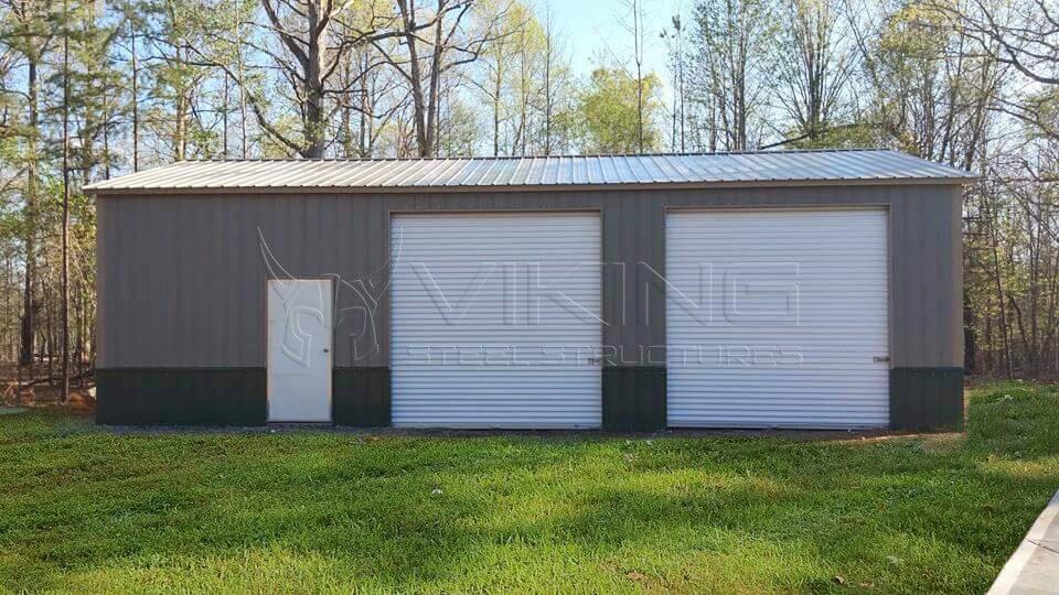 30x30x10 Enclosed Garage Building