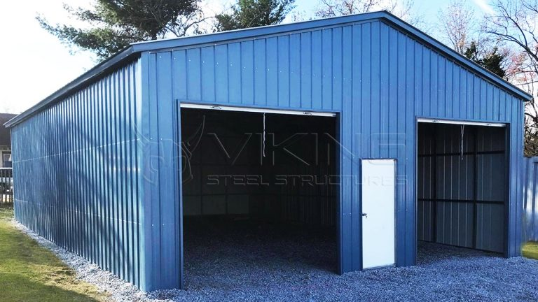 metal central product garage barn entry side