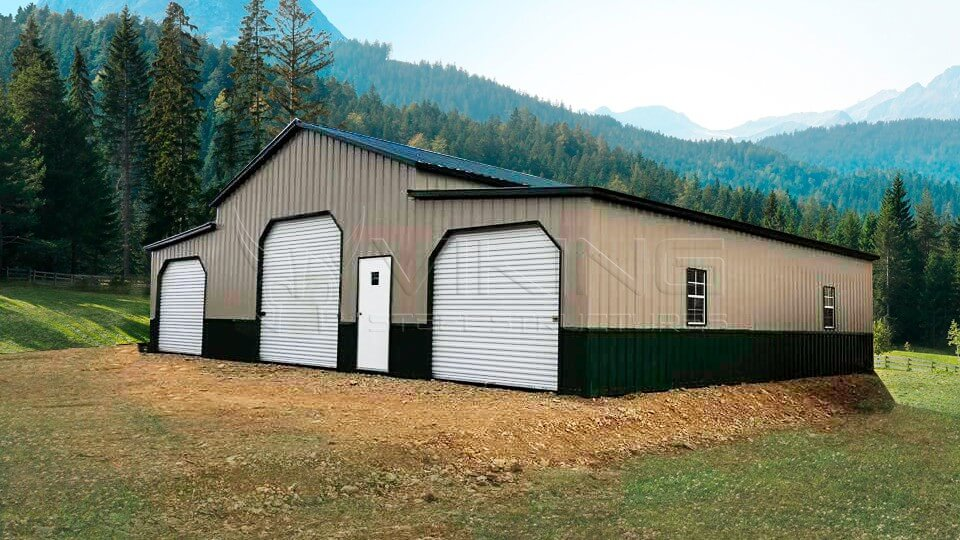 44x30x12 Raised Center Aisle Barn
