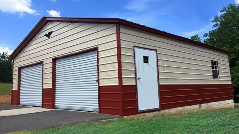 20X26X10 ENCLOSED METAL GARAGE