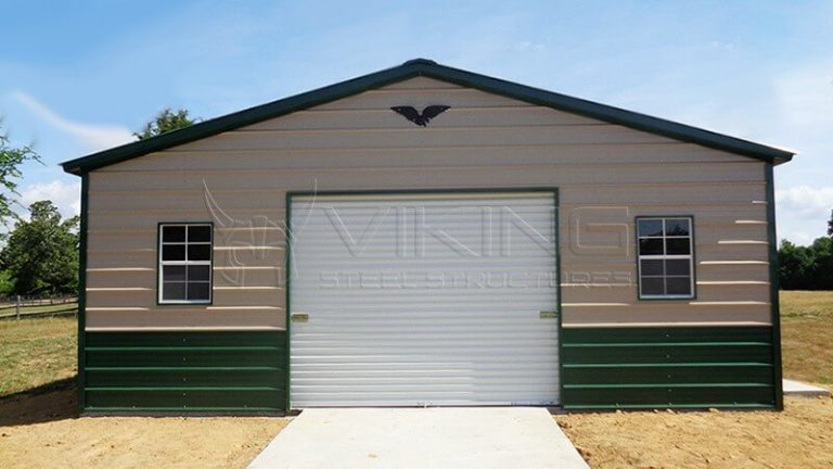 24X41X9 FULLY ENCLOSED VERTICAL ROOF GARAGE