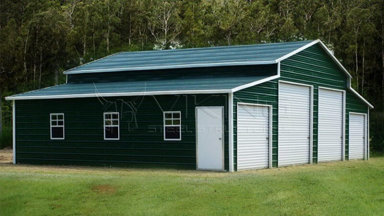 48x31x12 CENTER AISLE METAL BARN