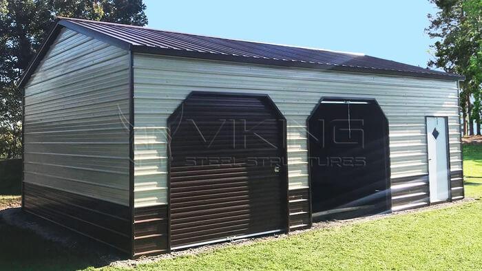 24X30X10 Side Entry Garage Building