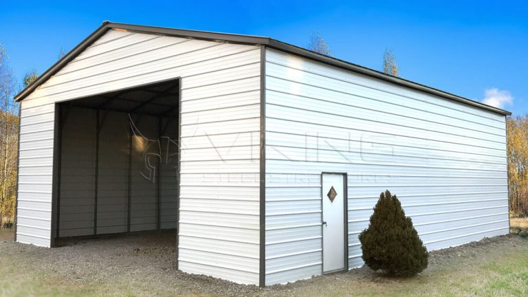 24x50x14 Enclosed Metal Garage