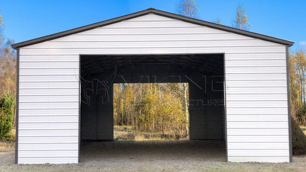 24x50x14 Enclosed Metal Garage
