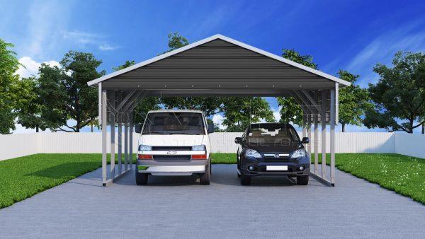 22x21 two car steel carport