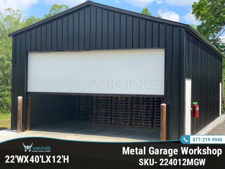22Wx40Lx12H All Purpose Garage Workshop