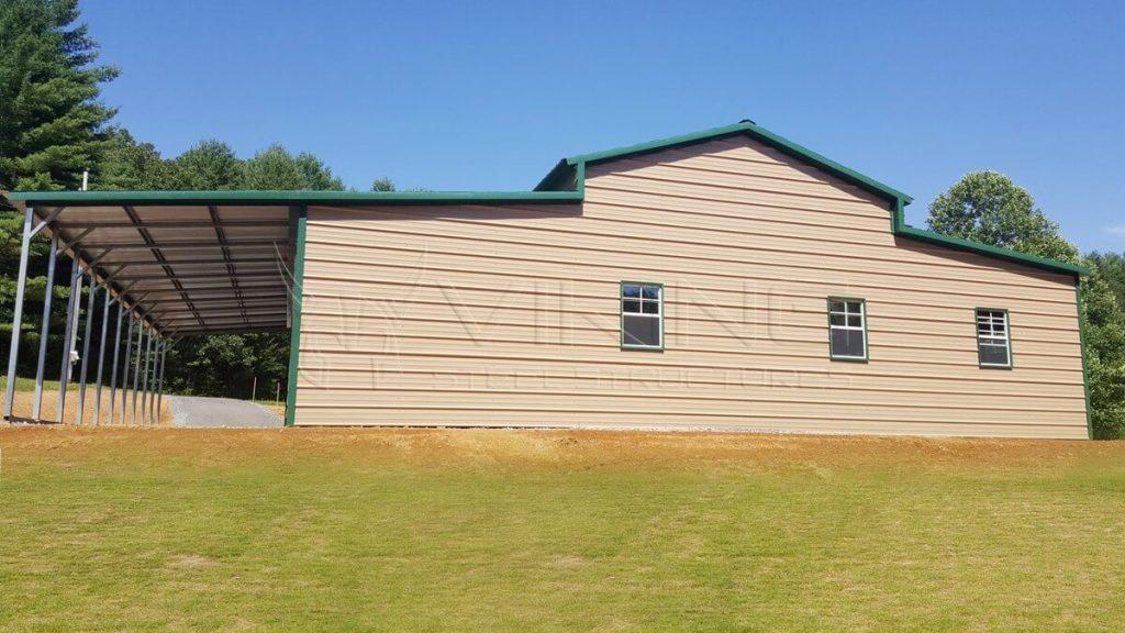54x40x12 Steel Carolina Barn