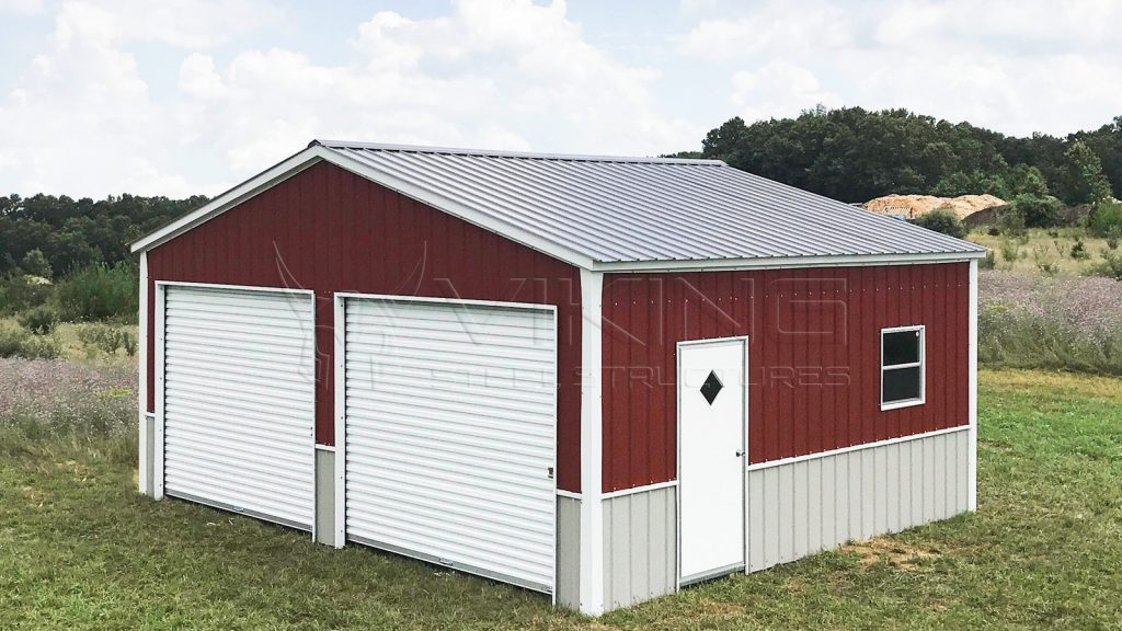 24x21 Metal Garage for Two Cars