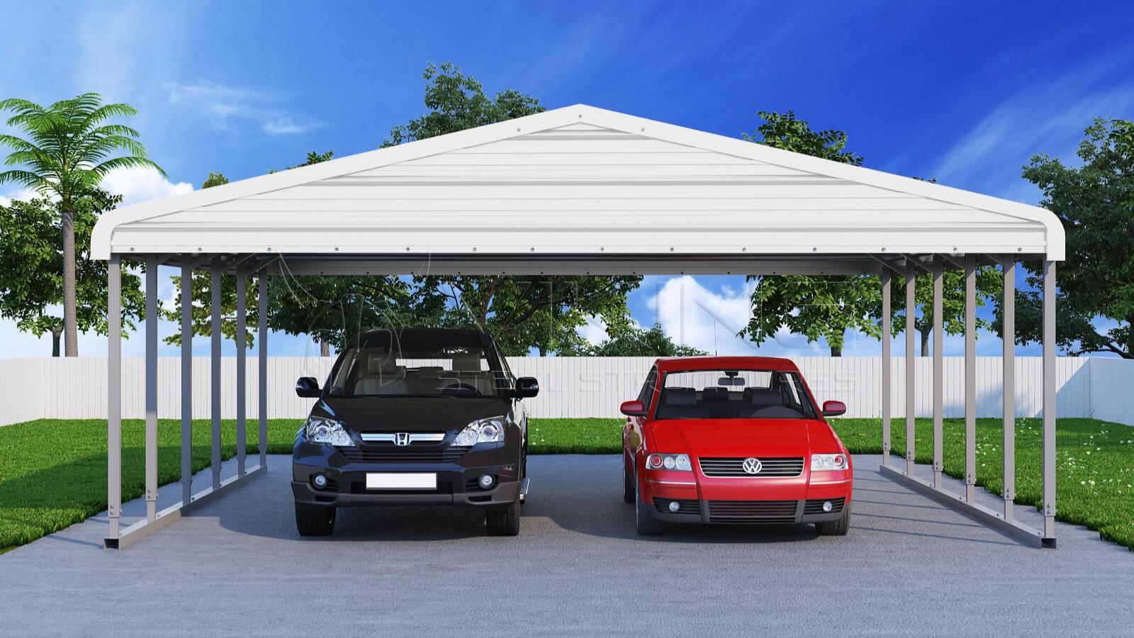 24x26 Wide Steel Carport
