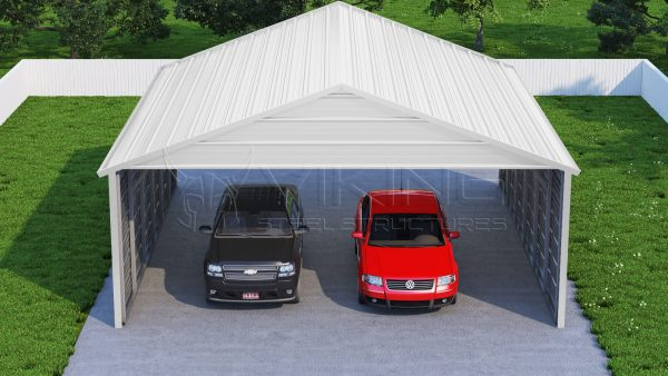24x31 Triple Wide Metal Carport