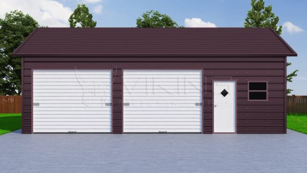 24x36 Side Entry Steel Garage