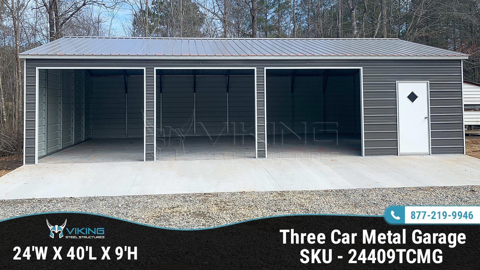 24x40x9-three-car-metal-garage