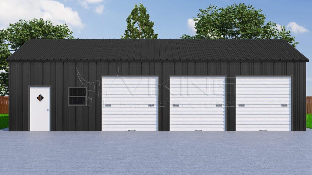 28/' x 31/' x 12/' Commercial Metal Garage Building