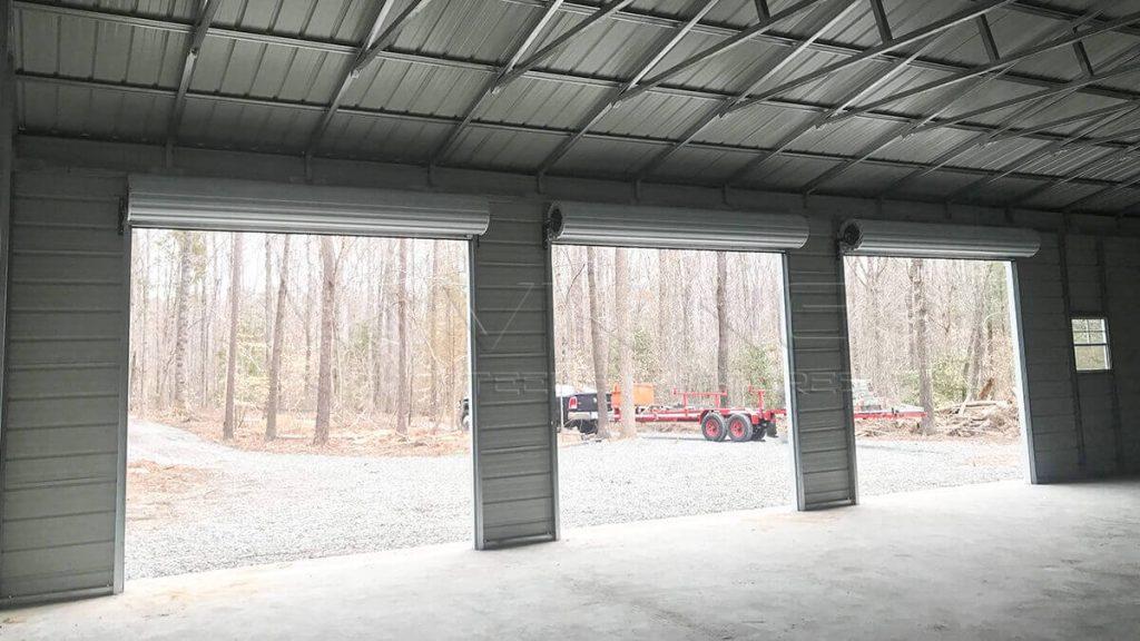 30x60x12 Three Car Metal Garage