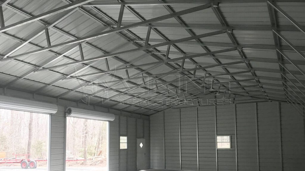 30x60x12 Three Car Metal Garage