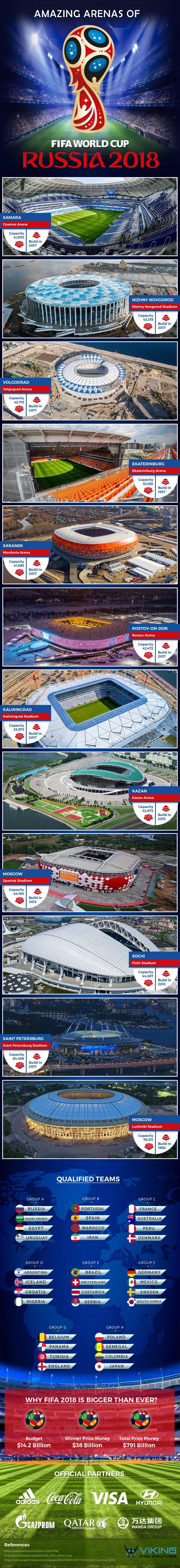 Amazing Arenas of FIFA World Cup Russia 2018