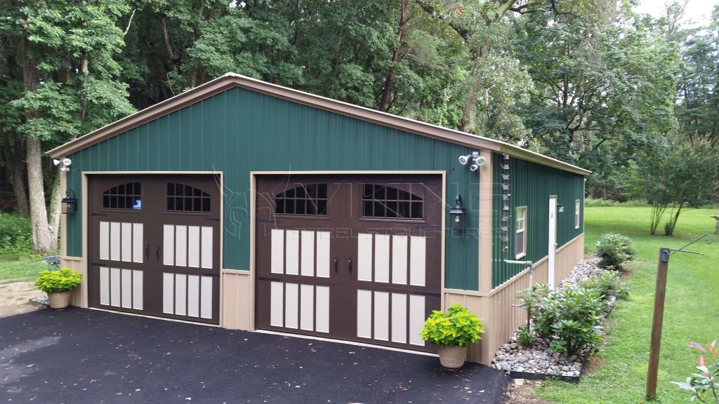 26X40X9 Two Tone Vertical Metal Building