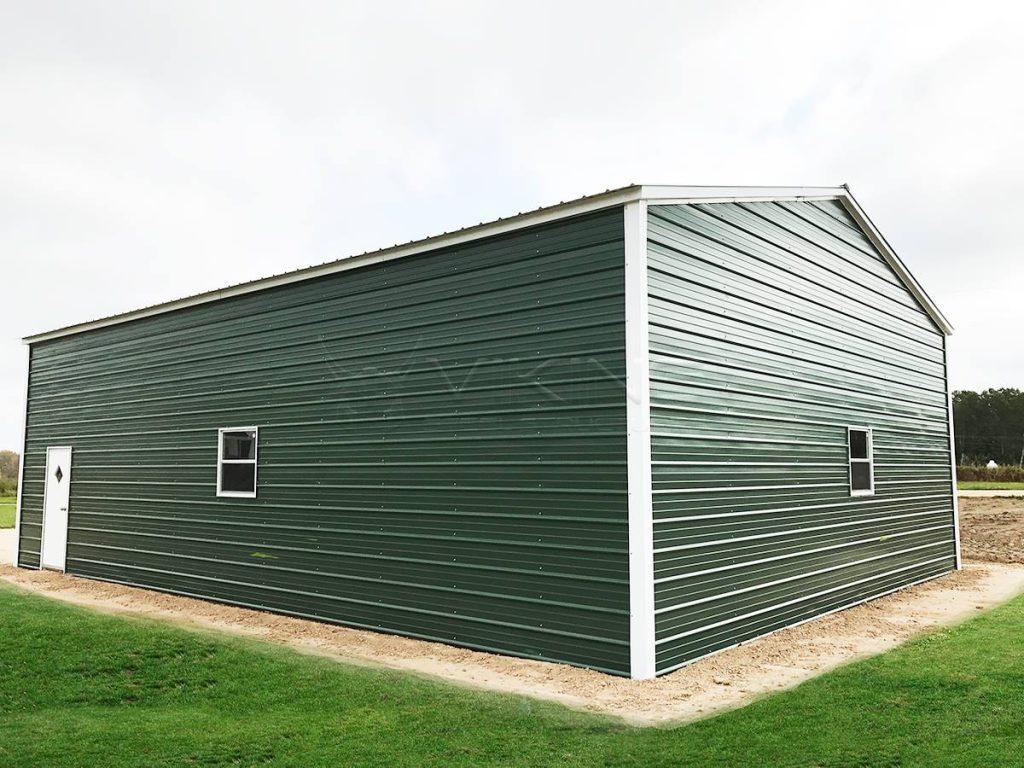 30x40x12-enclosed-garage-workshop-end