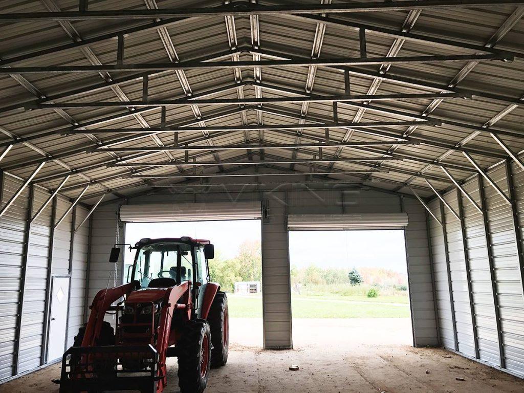 30x40x12 Enclosed Garage Workshop Home