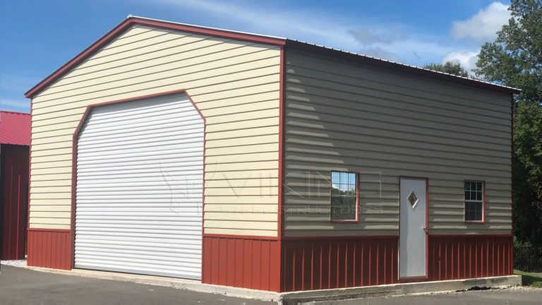 30x25x14 Two Tone Vertical Garage