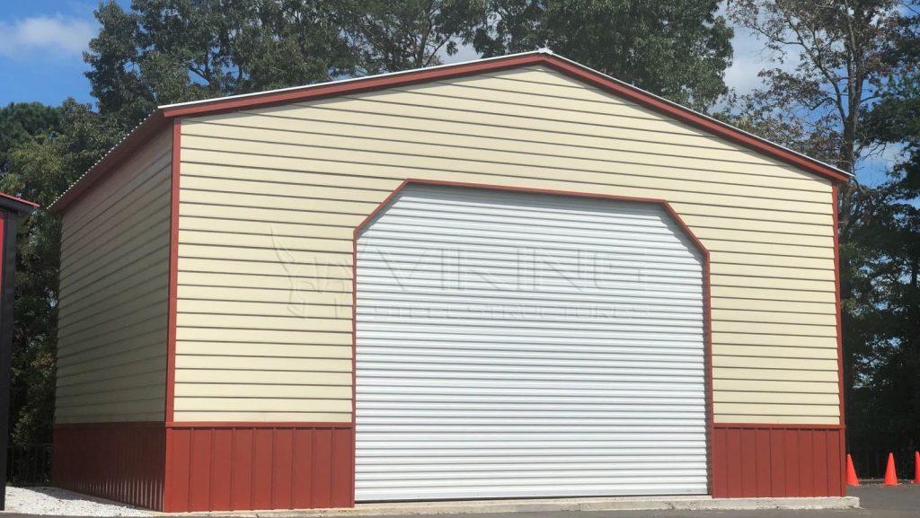 30x25x14 Two Tone Vertical Garage