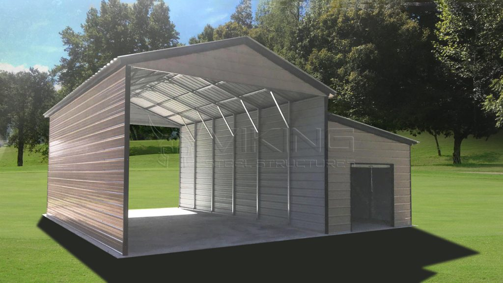 18x30x12 Vertical RV with Enclosed Lean-to