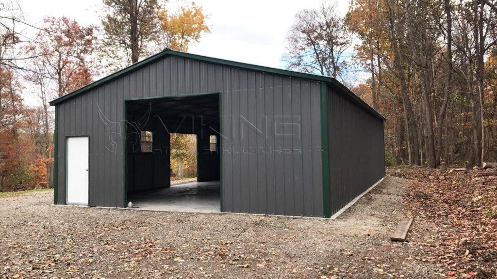 40x60x12 Vertical Enclosed Workshop