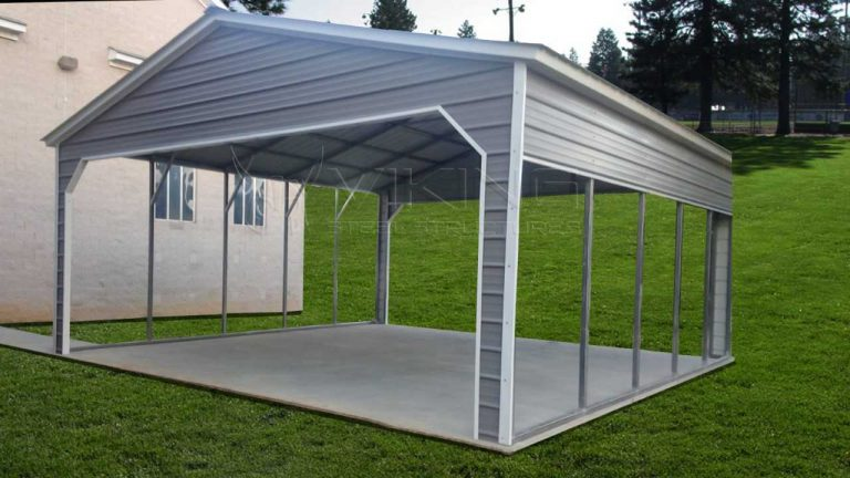 24x25x9 Vertical Roof Metal Carport