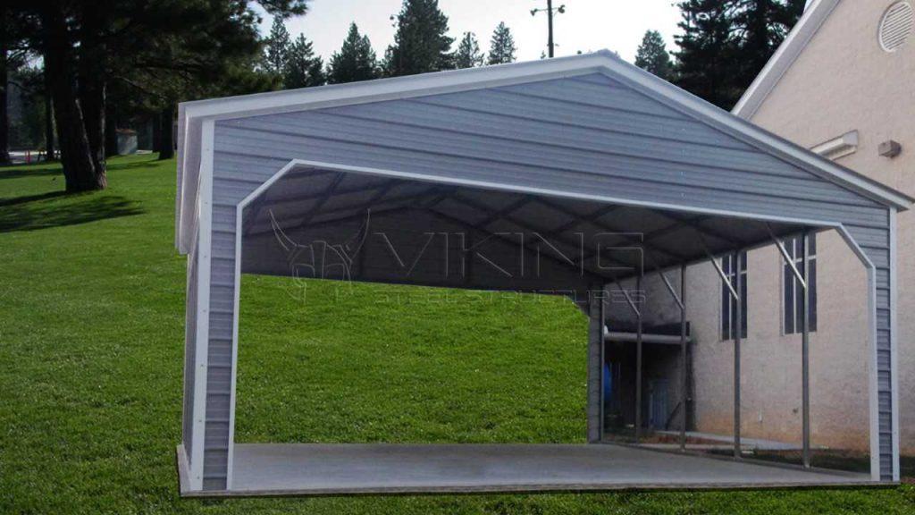 24x25x9 Vertical Roof Metal Carport