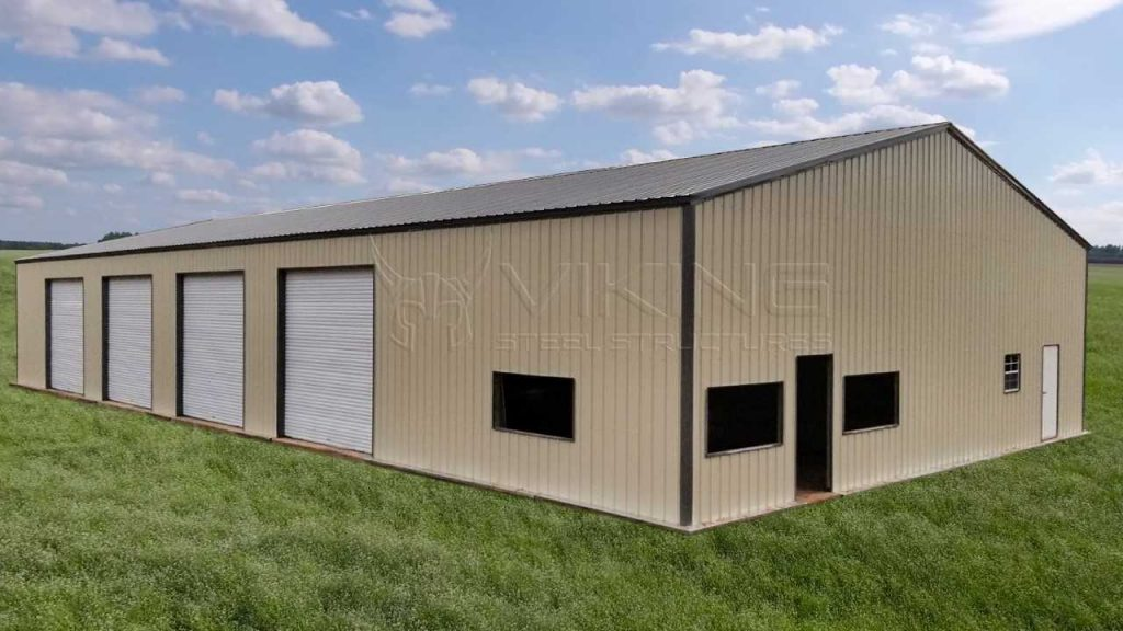 48 x 80 x 12 All Vertical Commercial Metal Building