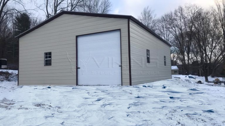 30X40X12 Vertical Roof Metal Garage