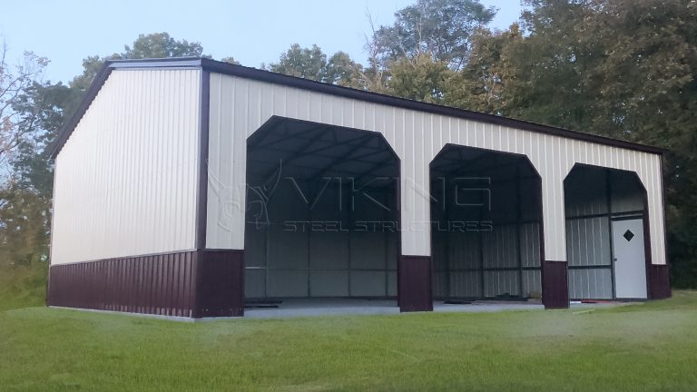 30x50x12 Triple Wide Metal Garage