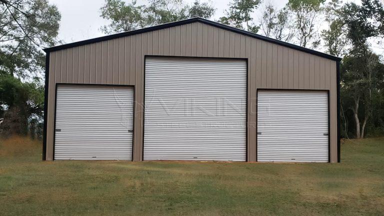 40x40x14 Vertical Enclosed Metal Garage