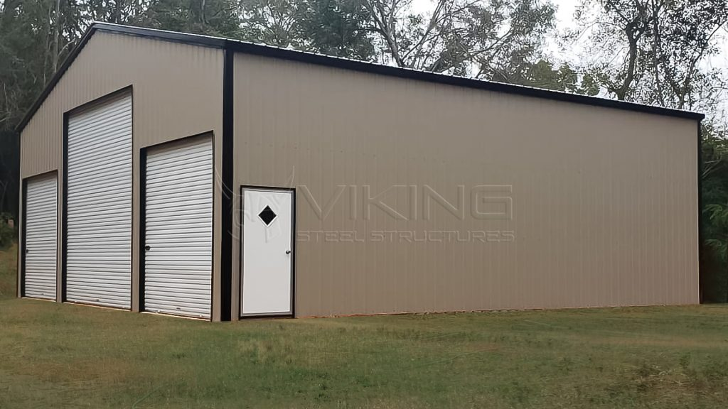 40x40x14 Vertical Enclosed Metal Garage