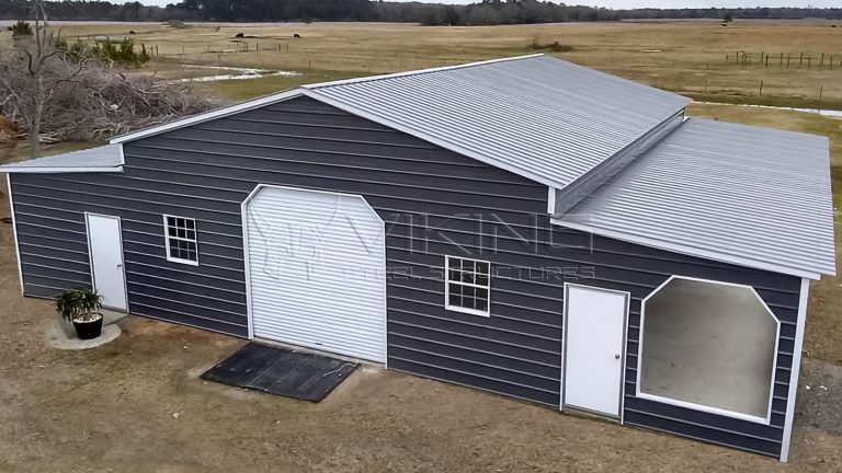 54x45x12 Raised Center Aisle Barn