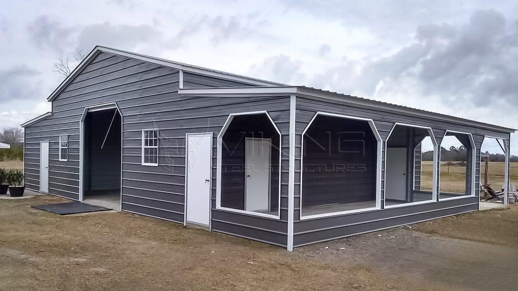 54x45x12 Raised Center Aisle Barn