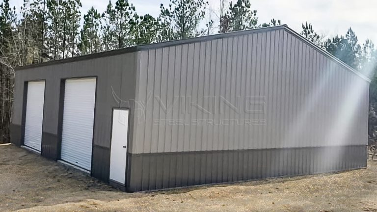 40x40x12 Vertical Enclosed Metal Garage