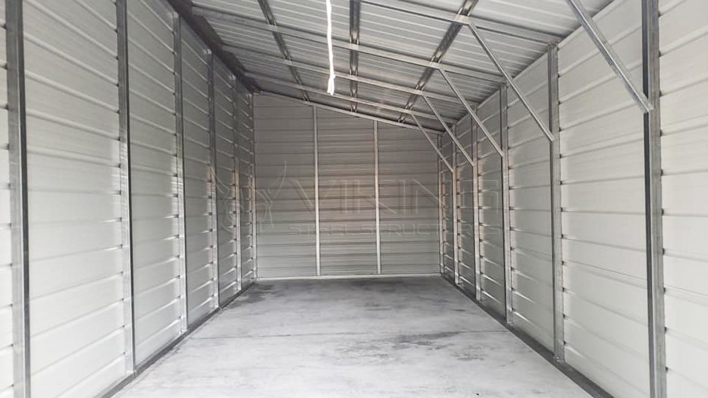 42x25x12 Continuous Roof Metal Barn
