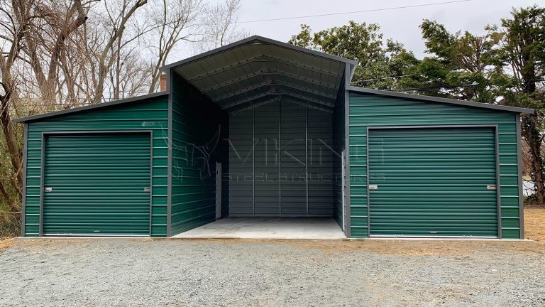 38x25x13 Carolina Metal Barn