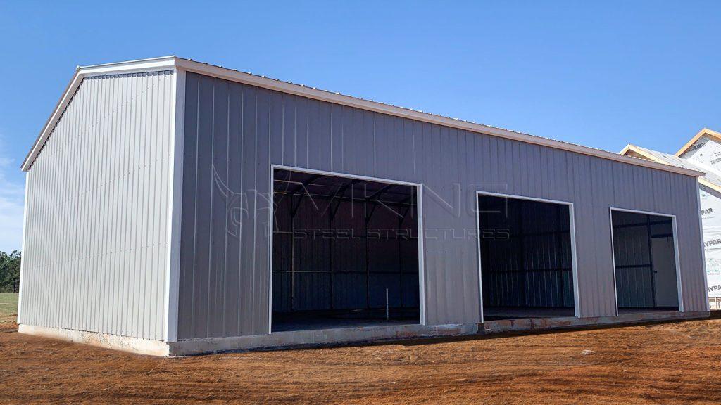 30x50x12 All Vertical Side Entry Metal Garage
